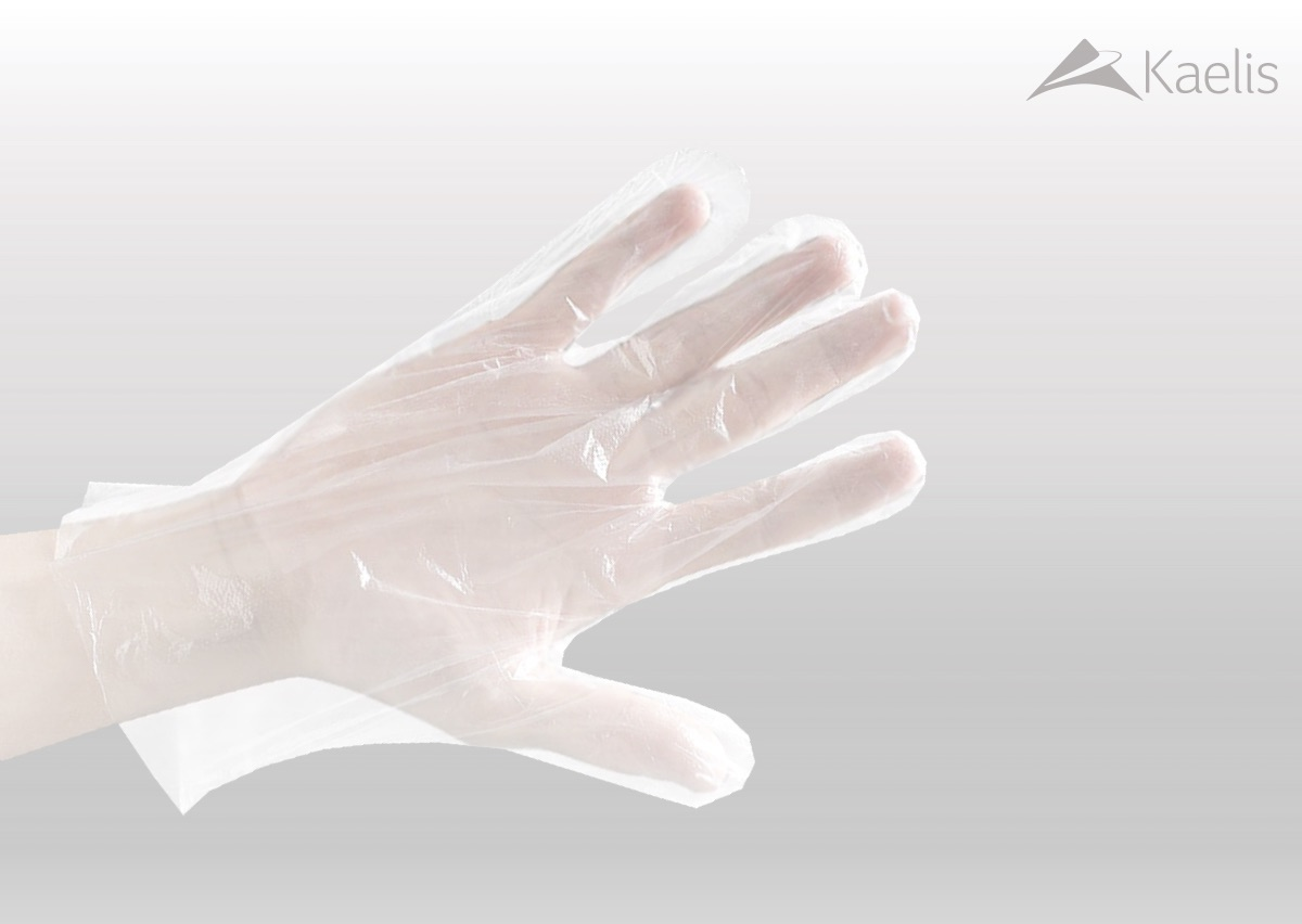 Disposable 1g PE Gloves - size L