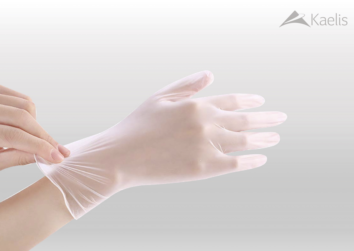 PPE Powder Free 4.5g PVC Disposable Gloves - size L