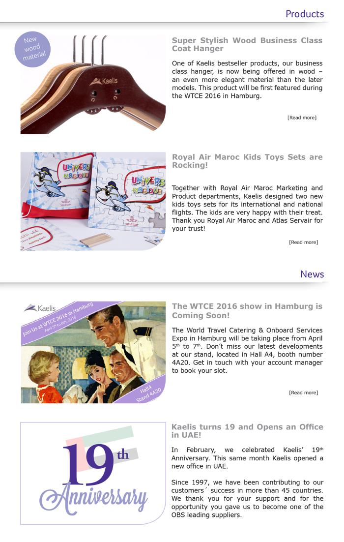 Kaelis News March 2016